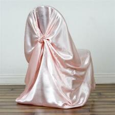 Blush Universal Satin Chair Cover