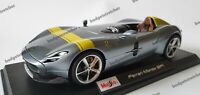 NEW MAISTO 1:18 Scale Diecast Model Car  -  Ferrari Monza SP1  -  Silver