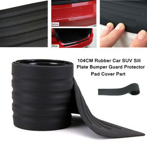 104CM Rubber Car Sill Plate Bumper Guard Universal Protector Pad Cover Durable