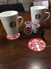 Starbucks Rubber Coaster, Mug, Coffee, PVC, Large Siren Logo, Red