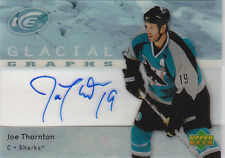 07-08 UD Ice Joe Thornton Auto SP Glacial Graphs Sharks 2007