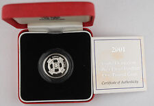 Piedfort Version 2001 Great Britain Silver Proof 1 One Pound Coin w/OGP UK £1