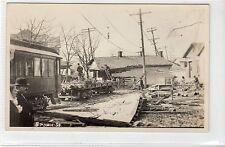 """BROWN ST"" postcard of flood damage believed to be Dayton, Ohio 1913 (C17066)"