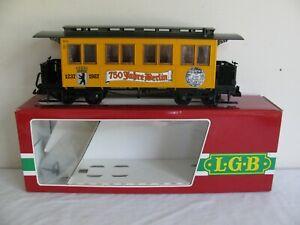 Vintage LGB G Scale Jahre Berlin 750 Year Anniversary Passenger Coach #3060B EX