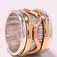 Solid 925 Sterling Silver Spinner Ring Meditation Statement Ring V1024