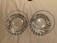 """Two KIG Indonesia Glass Bowls Blue Tint 6 3/4"""" A Box"""