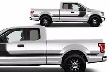 Vinyl Decal Rally Stripe 1 Wrap fits 2015-2017 Ford F-150 BLACK Supercab 6.5 Bed