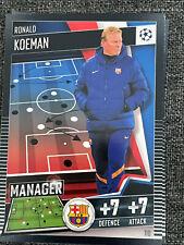 Topps Match Attax 101 2020/21 2021  Manager 110 Ronald Koeman Barcelona
