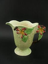 Carlton Ware Apple Blossom Vintage English China Creamer Milk Jug c1930s 8cm