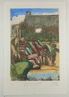 """Pit Morell, Farbradierung, """"Bretonische Landschaft"""", handsign. und num., 60 Ex."""
