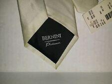 Bernini 100% Silk Solid White Classic Designer Neck Tie NWT