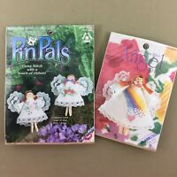 Lot of 2 angel clothespin cross stitch kits Rainbow Doll & 2 Pretty PinPals new