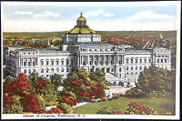 1920's Postcard Library of Congress DC