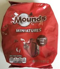 NEW MOUNDS MINIATURES DARK CHOCOLATE & COCONUT CANDIES 11 OZ FREE WORLD SHIPPING