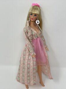 Vintage Barbie Doll Clothes Mod Era Outfit #3487 SLEEPY SET Robe Nightgown