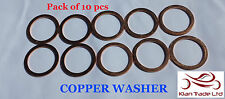 "Copper crush washers suit gasket fuel 14mm or 9/16"" banjo bolt brake M14x18x1"