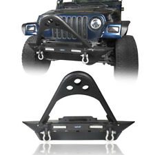 Stinger Front Bumper w/ LED Lighting & D-rings for 1987-2006 Jeep Wrangler TJ YJ