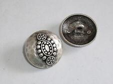 6 Stück Metallknöpfe Ösenknopf Trachtenknopf  25 mm altsilber NEUWARE #295.2#