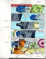1985 Marvel Comics Hulk 309 color guide art page: Sal Buscema/1980's Marvelmania