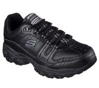 Skechers Wide Width EW Black shoes Men's Memory Foam Sport Comfort Sneaker 50122
