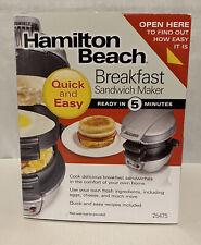 Hamilton Beach Electric Breakfast Egg Muffin Sandwich Maker / NEW