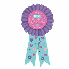 Big Sister Pink Award Ribbon Baby Shower New Baby Favour Fancy Dress Accessories