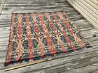 Antique Red White and Blue Coverlet AS IS Cutter?