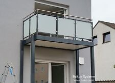 3 x 2 m Balkon Anbaubalkon Vorstellbalkon pulverbeschichtet Sichtschutz VSG Glas