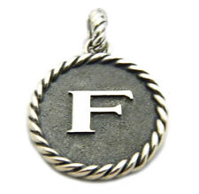 """David Yurman Sterling Silver Initial """"F"""" Charm Enhancer Pendant NWT"""