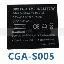 CGA-S005E Battery for Panasonic Camera Lumix DMC-FX01 FX8 DMC- LX1 LX2 LX3 LX9