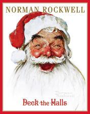 Rockwell Norman Deck The Halls Santa Print 11  x 14   #5202