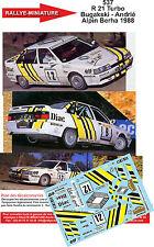 DÉCALS 1/43 réf 537 Renault 21 Turbo Bugakski - Andrié Alpin Berha 1988