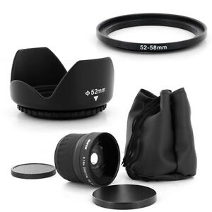 52mm Fish Eye 0.18x,Petal Lens Hood for Nikon D3100 D5100 D7000 with Nikkor50mm