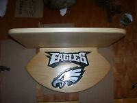 Philadelphia Eagles Helmets (helmet) display shelf Natural Finish handcrafted