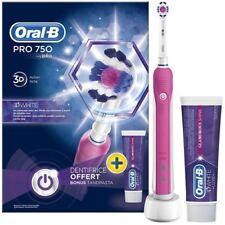 Oral-B pro 750 Pink 3DWhite Elektrisch Wieder Aufladbare Zahnbürste & Zahnpasta