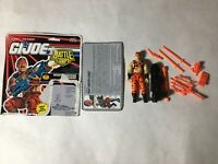 GI JOE ARAH Night Creeper Leader 1993 V.1 Complete With Filecard + Cut Cardback