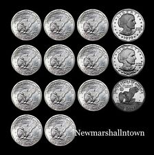 1979 1980 1981 1999 P+D+S+S Susan B Anthony Dollars BU Mint Proof Set Lot of 14