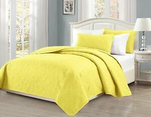 """Mk Collection 3pc King/California King Over Size 118""""x106"""" Diamond Bedspread Bed"""