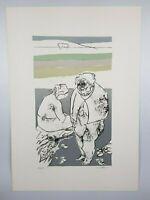 Leo Pellicanò Litografia a 5 colori Opera Grafica cm. 70 x 50 Firmato a mano