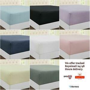 100% Cotton Extra Deep 30 cm Jersey Fitted Sheets Breathable Hypo allergenic