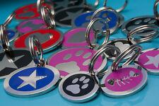 Personalised Engraved Medium Enamel Heart Print Pet Id Tags