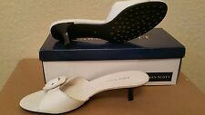 New Karen Scott Leather white mules shoes sz 8
