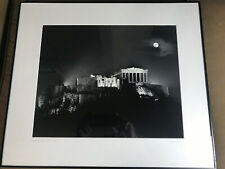 "Gary A Auerbach 1992 ""Moonrise Over Acropolis"" Photograph - Pencil Signed/Framed"