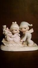 Precious Moments - Sharing Our Season Together Sled Figurine -