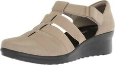 CLARKS WOMEN CADDELL SHINE  CLOUDSTEPPERS WEDGE CASUAL SHOES 7E