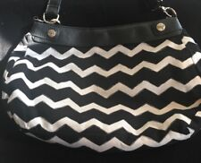 Thirty One Purse Bag Base Interchangeable Covers Black White Chevrons