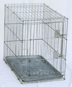 "Wire Pet Cage - 26.5"" long x 17.5"" wide x 24"" high @ 15 pounds"