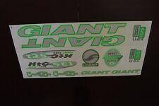 Giant  Stickers Silver, Green & White XTC SE1