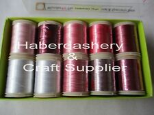 WONDERFIL EMBROIDERY THREAD *THEME* VALENTINES HUGS 10 ASSORTED COLORS