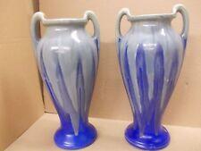 Paire de vase décor flammé fabriqué en belgique 1920/30